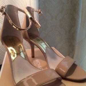 2aadb6fb84b0 MICHAEL Michael Kors Shoes - Nude Michael Kors Kristen Mid-Heel Sandal NEW!